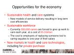 opportunities for the economy