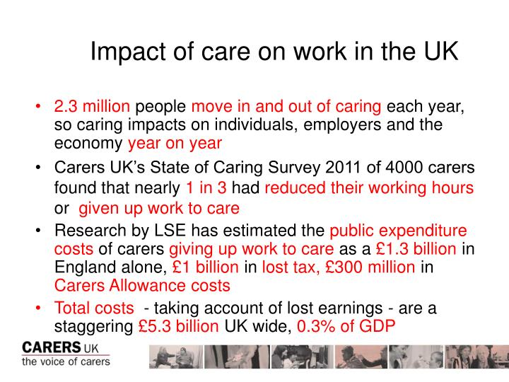 Impact of care on work in the UK