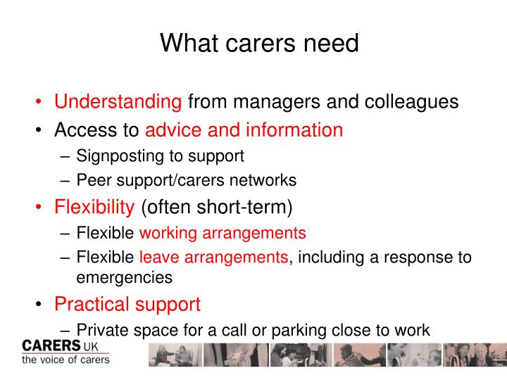 What carers need