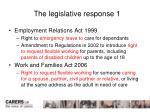 the legislative response 1