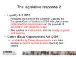 the legislative response 2