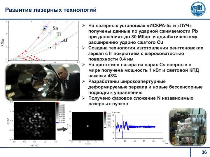 Развитие лазерных технологий