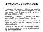 effectiveness sustainability