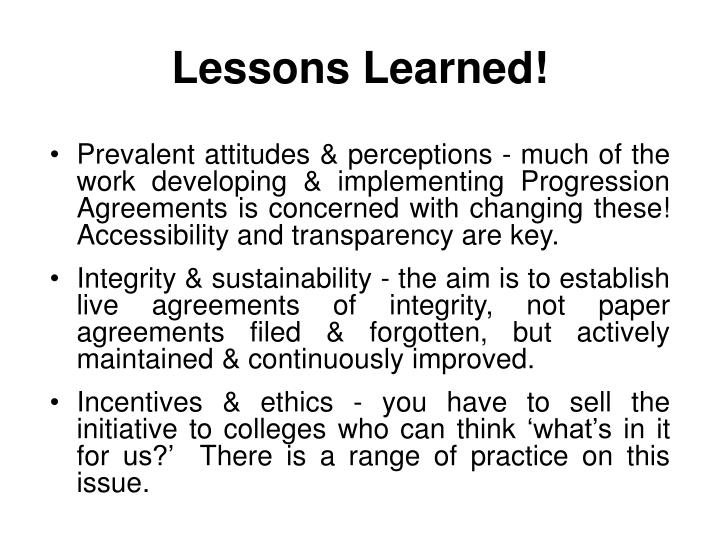 Lessons Learned!