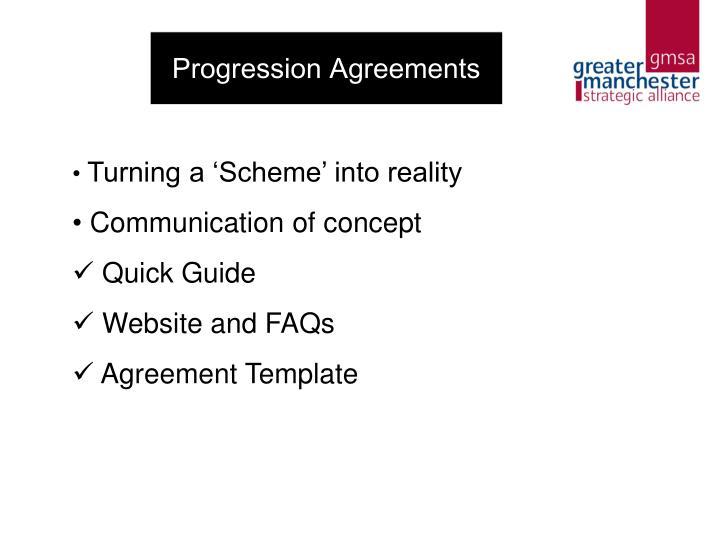 Progression Agreements