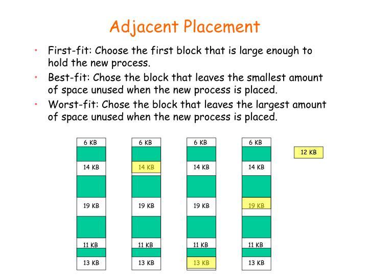 Adjacent Placement