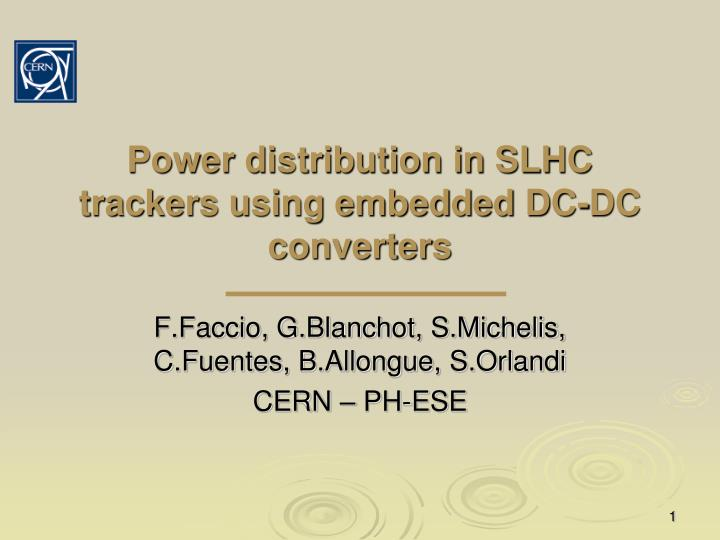 power distribution in slhc trackers using embedded dc dc converters