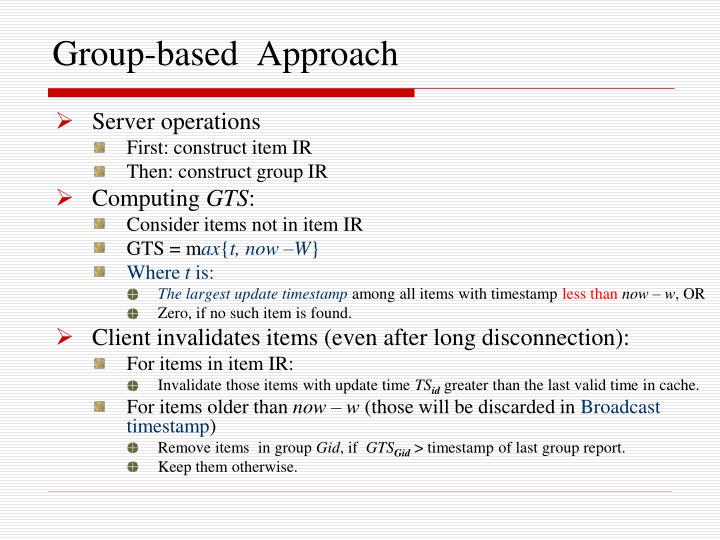 Group-based  Approach