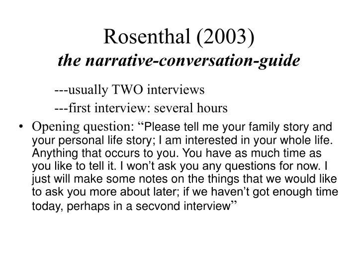 Rosenthal (2003)