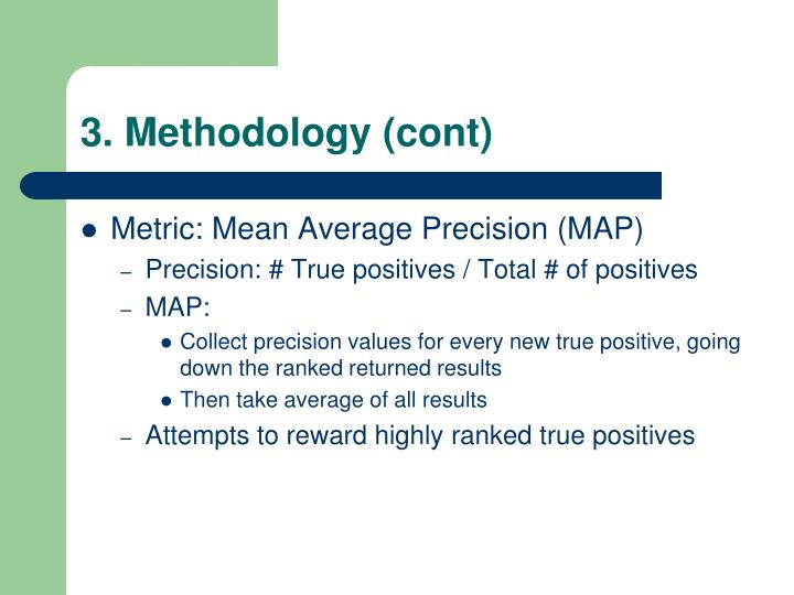 3. Methodology (cont)