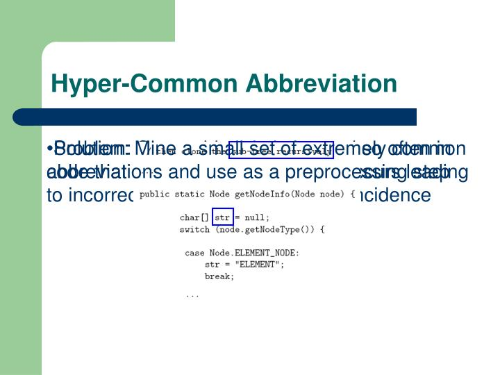 Hyper-Common Abbreviation