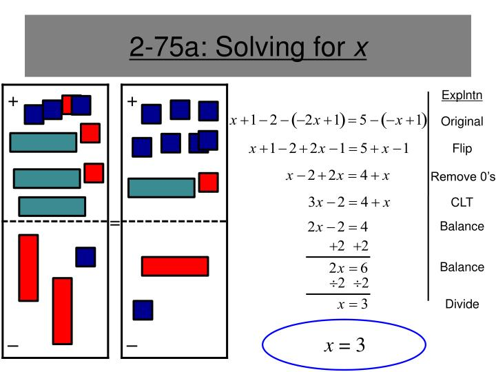 2-75a: Solving for