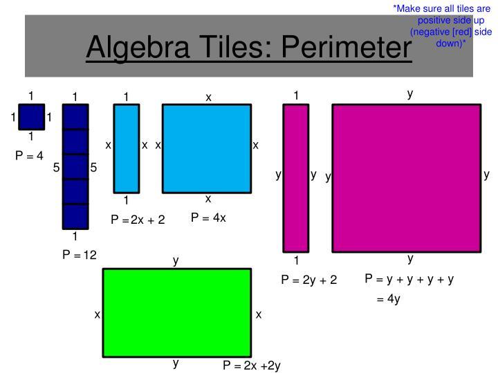 Algebra Tiles: Perimeter