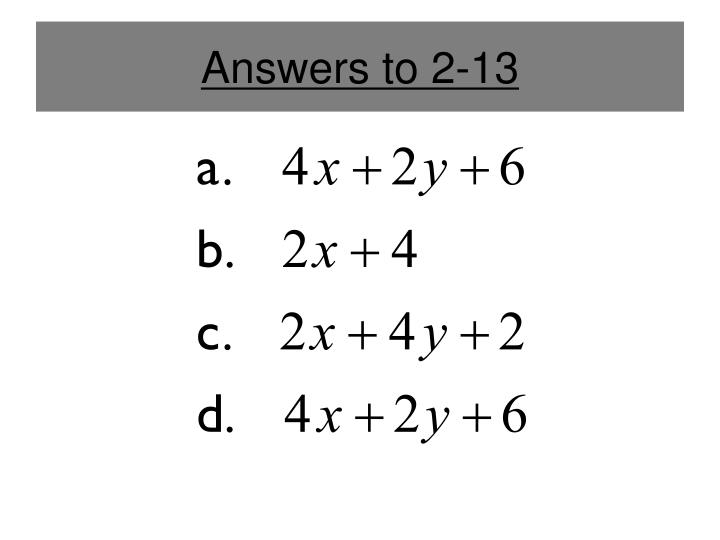 Answers to 2-13