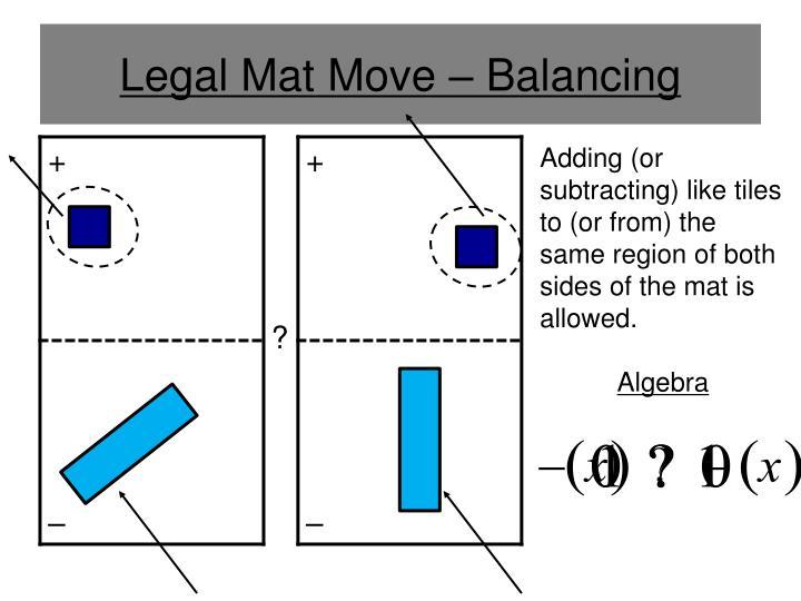 Legal Mat Move – Balancing