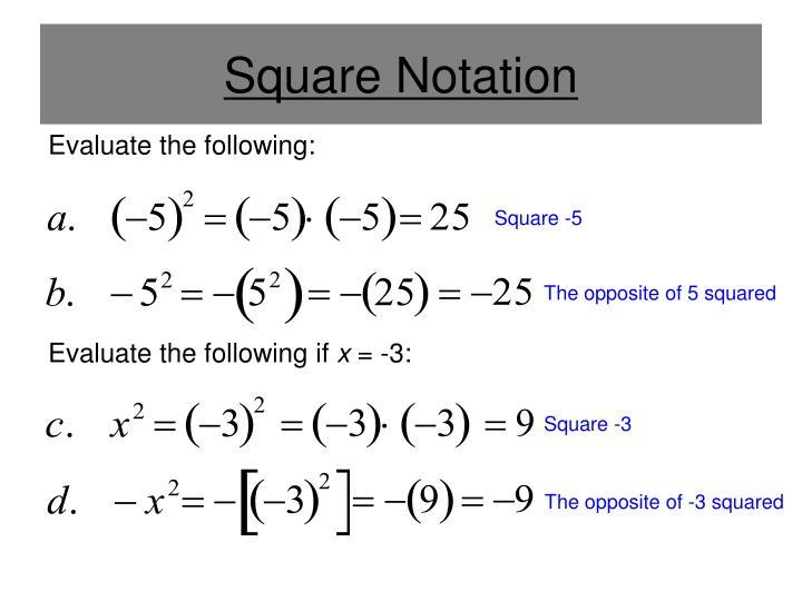 Square Notation