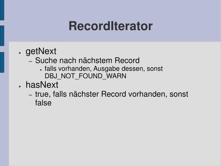 RecordIterator