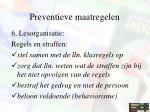 preventieve maatregelen10