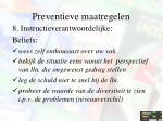 preventieve maatregelen14