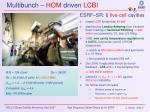 multibunch hom driven lcbi