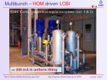 multibunch hom driven lcbi2