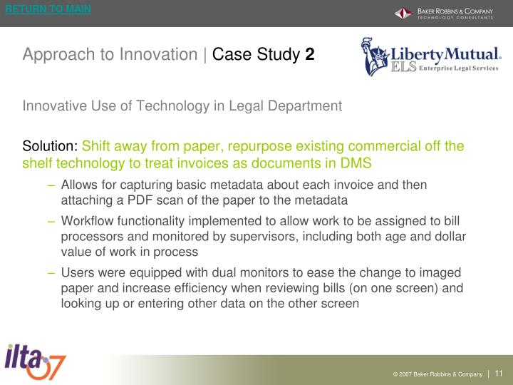 Approach to Innovation |