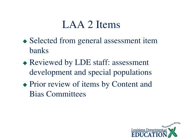 LAA 2 Items
