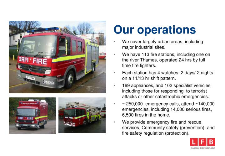 Our operations