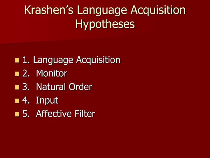 Krashen's Language Acquisition Hypotheses