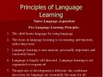 principles of language learning