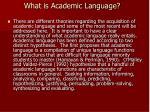 what is academic language
