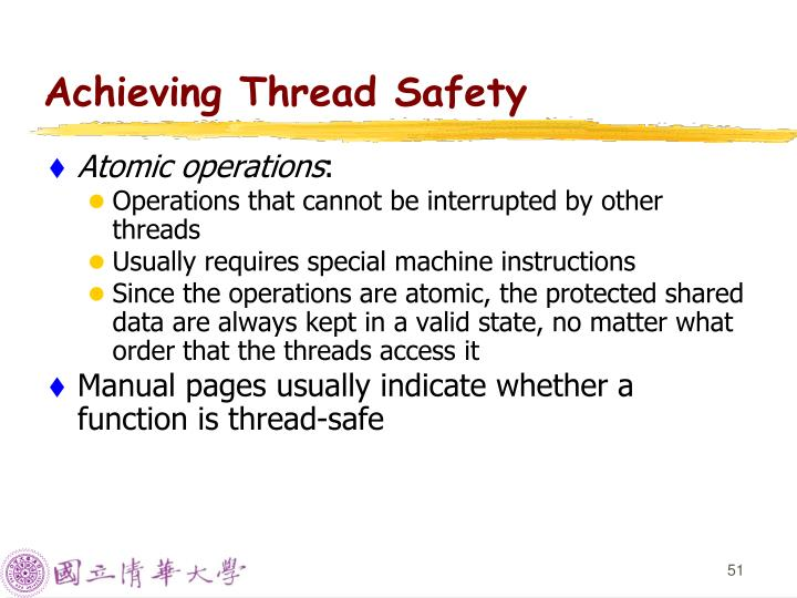 Achieving Thread Safety