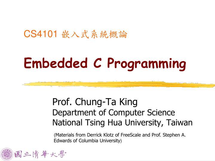 cs4101 embedded c programming