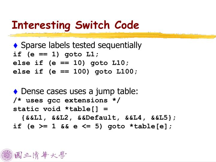 Interesting Switch Code