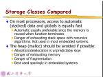 storage classes compared