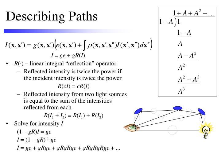 Describing Paths