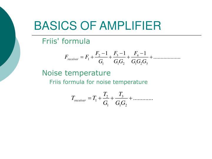 BASICS OF AMPLIFIER