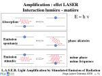 amplification effet laser interaction lumi re mati re