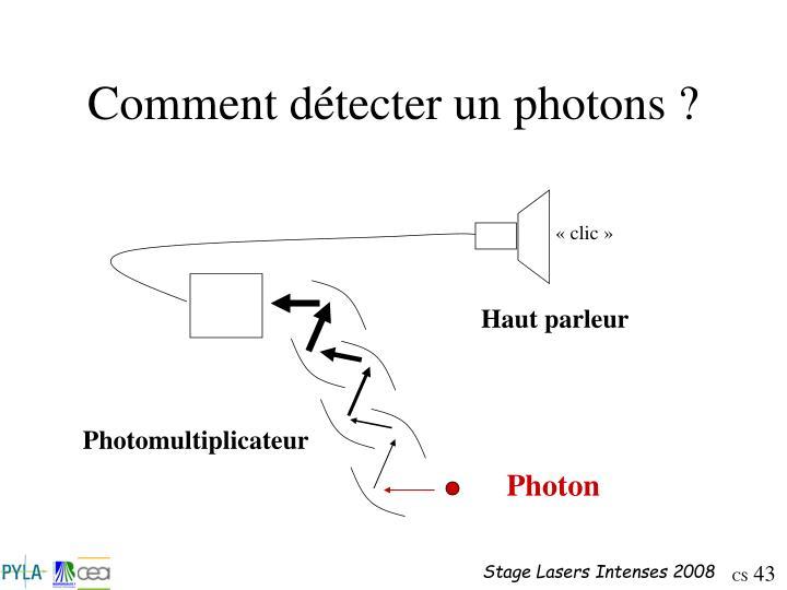 Comment détecter un photons ?