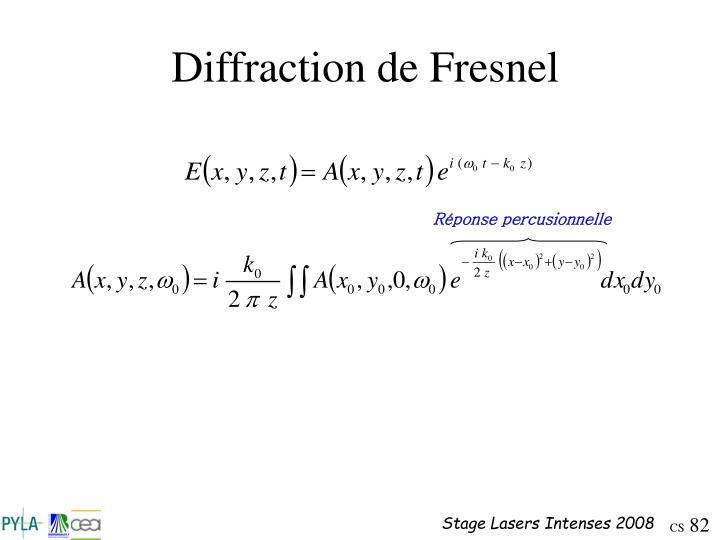 Diffraction de Fresnel