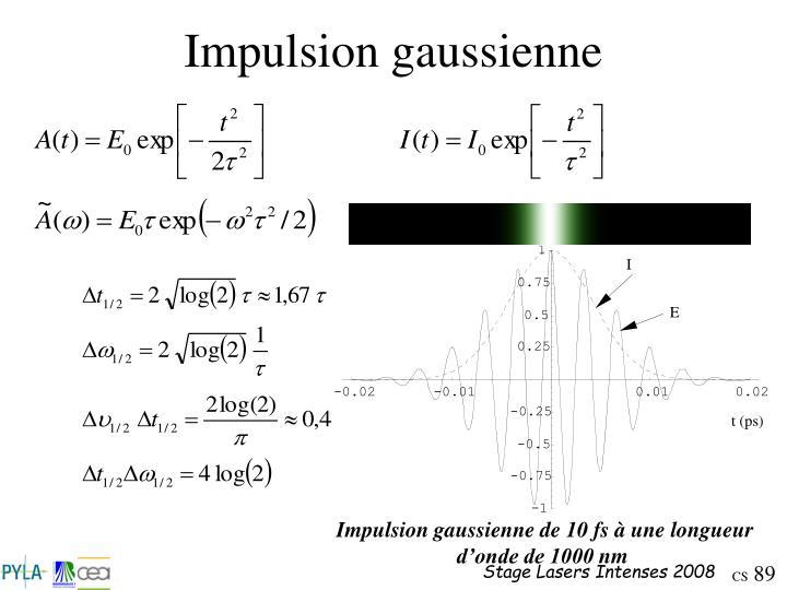 Impulsion gaussienne