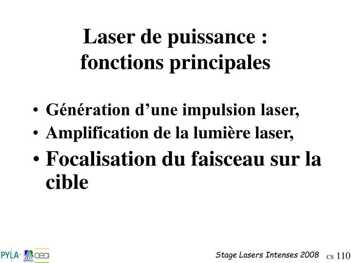 Laser de puissance :