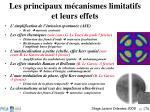 les principaux m canismes limitatifs et leurs effets