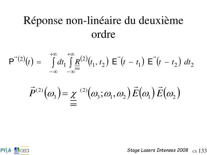 Réponse non-linéaire du deuxième ordre