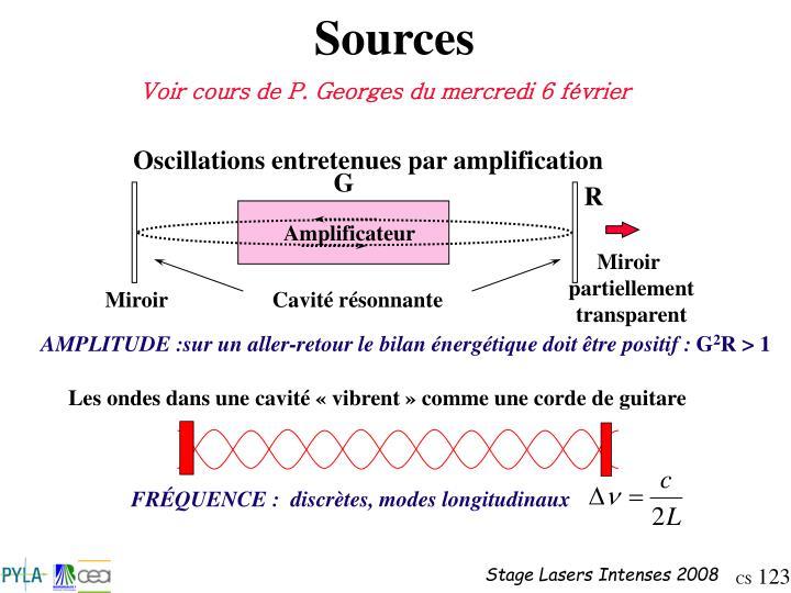 Oscillations entretenues par amplification