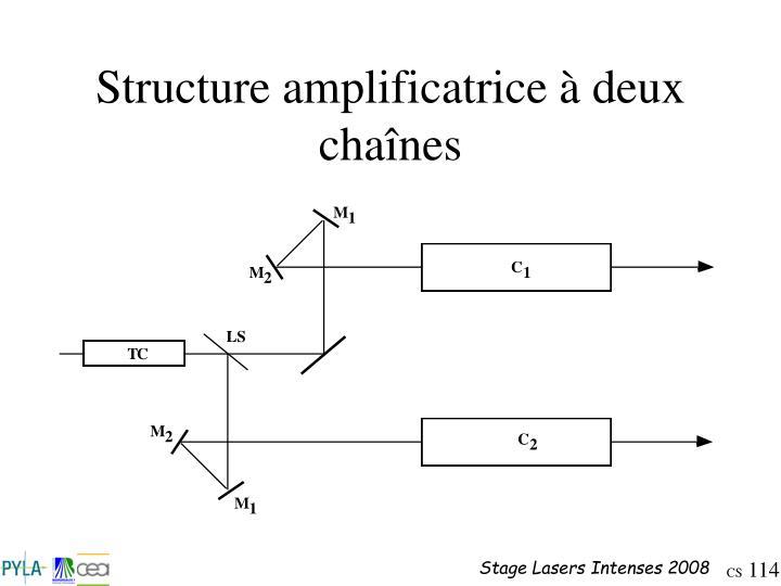 Structure amplificatrice à deux chaînes