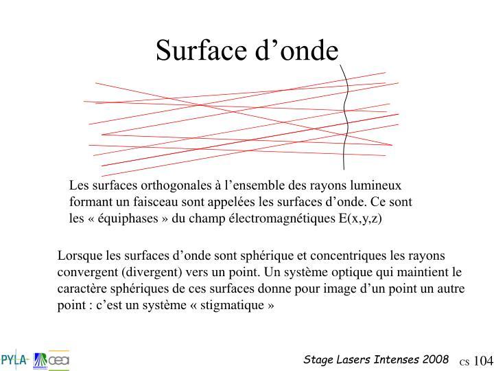 Surface d'onde