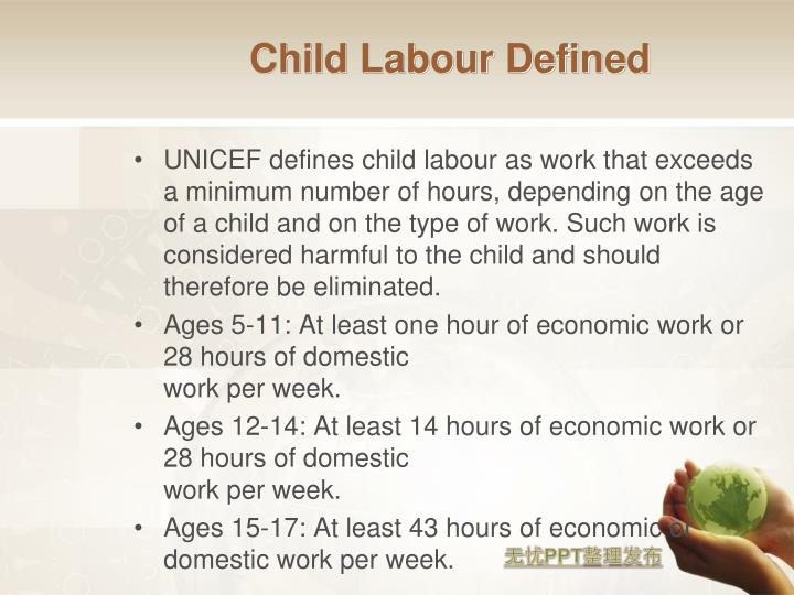 Child Labour Defined