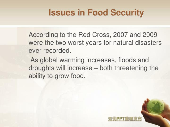 Issues in Food Security
