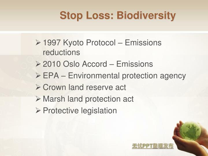 Stop Loss: Biodiversity